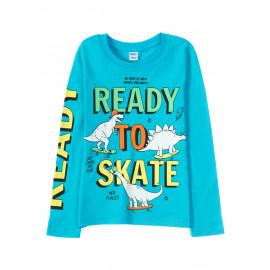 Лонгслив для мальчика Ready to skate, голубой