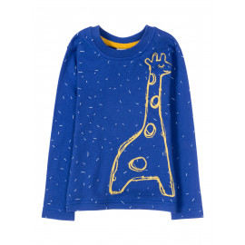 Лонгслив для мальчика Blue giraffe, синий