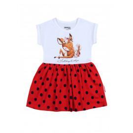 Платье для девочки Акварель , красный
