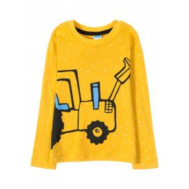 Лонгслив для мальчика Yellow tractor, оранжевый