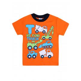 Футболка для мальчика Техника, оранжевый