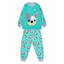 Пижама для мальчика Бульдог, ментоловый