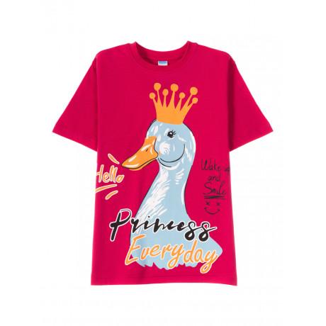 Футболка для для девочки Every day, малиновый