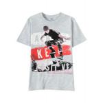 Футболка для мальчика Keep calm , серый меланж