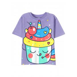 Футболка для  девочки Colored ice cream, сиреневый