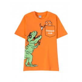 Футболка для мальчика Funny Dino, морковный