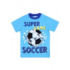 Футболка для мальчика Мяч, голубой