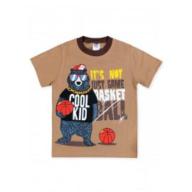Футболка для мальчика Баскетбол, светло-коричневый