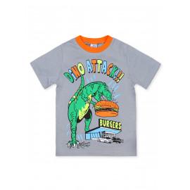 Футболка для мальчика Динозавр, серый