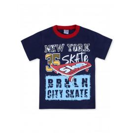 Футболка для мальчика Скейт, темно-синий