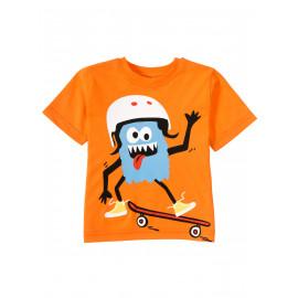 Футболка для  мальчика Toothy skater, оранжевый