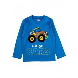 Лонгслив для мальчика Трактор, синий