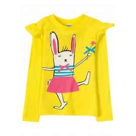 Лонгслив для девочки Yellow rabbit, желтый