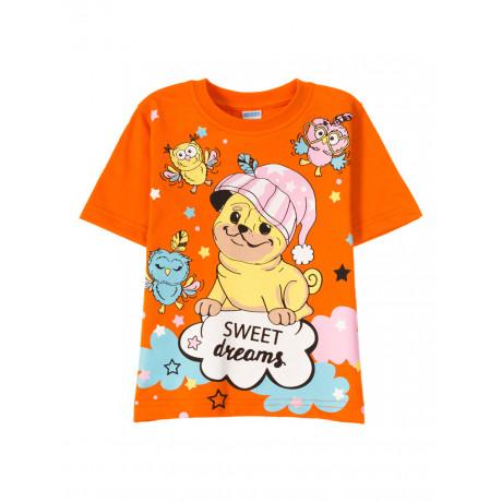 Футболка для  девочки Sweet dreams, оранжевый