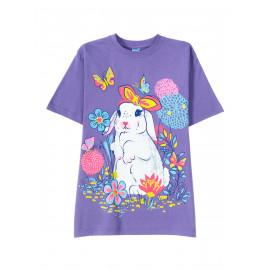 Футболка для для девочки Lilac rabbit, сиреневый