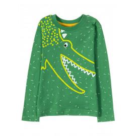 Лонгслив для мальчика Green crocodile, зеленый