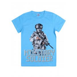 Футболка для мальчика Солдат, голубой