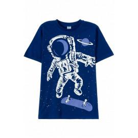 Футболка для мальчика Космонавт, темно-синий