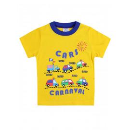 Футболка для мальчика Машины, желтый