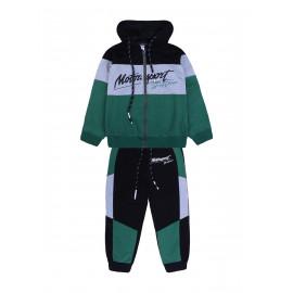 Костюм для мальчика Мотоспорт, зеленый
