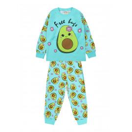 Пижама для девочки Авокадо, бирюзовый