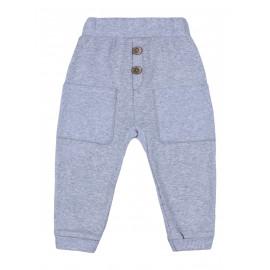 Штаны для мальчика Джоггеры, серый меланж