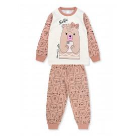 Пижама для девочки Медвежонок, коричневый