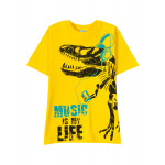 Футболка для мальчика Динозавр, желтый