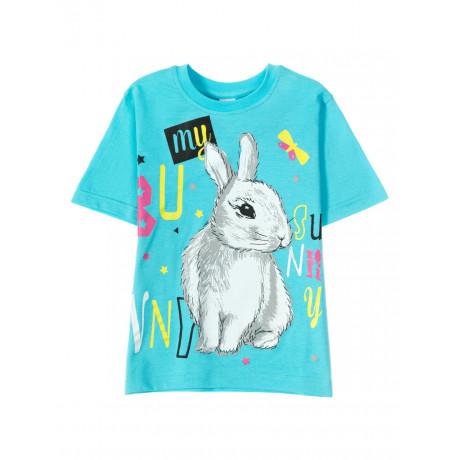 Футболка для  девочки Sunny rabbit, голубой