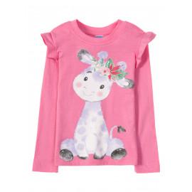 Лонгслив для девочки Cute cow, розовый