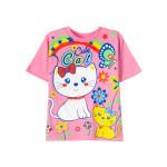 Футболка для  девочки Сute Cat, розовый