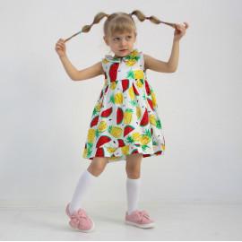 Платье для девочки Арбузы, белый