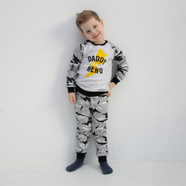 Пижама для мальчика Папа герой, милитари