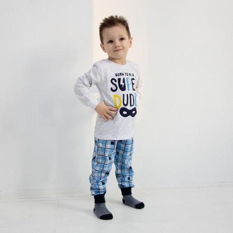 Пижама для мальчика Супер, серый