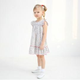 Платье для девочки Цветочки, серый