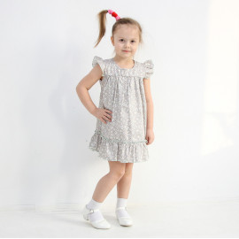 Платье для девочки Цветочки, бежевый