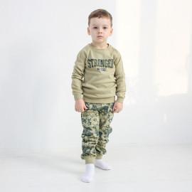 Пижама для мальчика Звезды, милитари