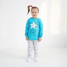 Пижама для девочки Звезда, бирюзовый