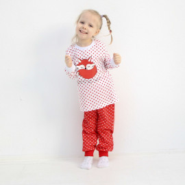 Пижама для девочки Лиса, красный