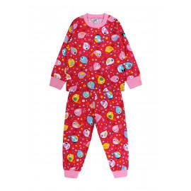 Пижама для девочки Птички, малиновый