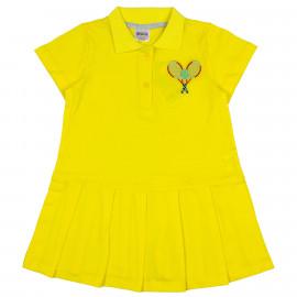 Платье поло для девочки Теннис, желтый