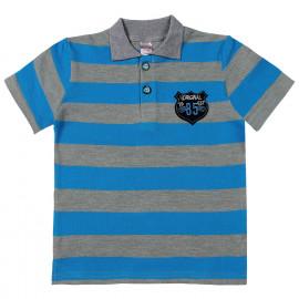 Футболка-поло для мальчика ,голубая  полоска