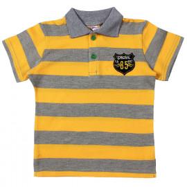 Футболка-поло для мальчика, желтая полоска
