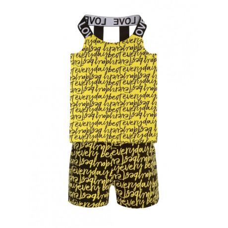 Костюм для девочки Текст, желтый