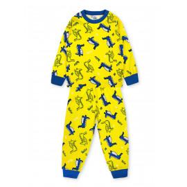 Пижама для мальчика Динозаврики, желтый