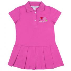 Платье поло для девочки Теннис, темно-розовый