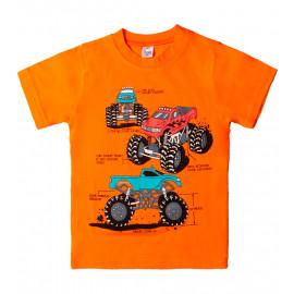 Футболка для мальчика Траки, оранжевый