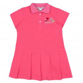 Платье поло для девочки Теннис, коралловый