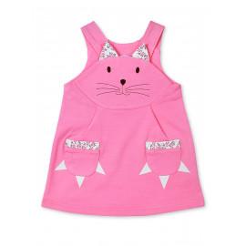 Сарафан для девочки Кошка, розовый