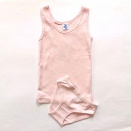 Комплект для девочки однотонный, светло-розовый